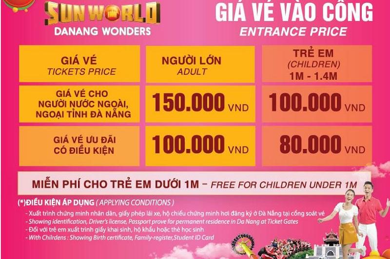 giá vé công ciên châu Á Đà Nẵng